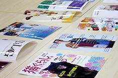 雑誌の表紙デザイン発表会が行われました